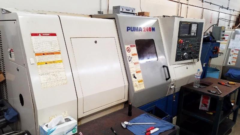 1 – USED DAEWOO PUMA 240MA CNC LATHE WITH LIVE MILLING STATIONS C-5491