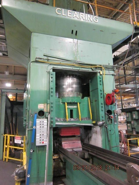 1 – USED 2,000 TON CLEARING HYDRAULIC PRESS C-5521