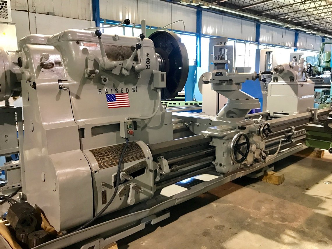 "1 – USED 72"" X 125"" AXELSON GAP FACING LATHE C-5529"