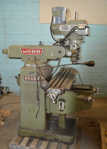 "​1 – USED #3VH WEBB ""CHAMP"" VARIABLE-SPEED VERTICAL MILL C-5572"