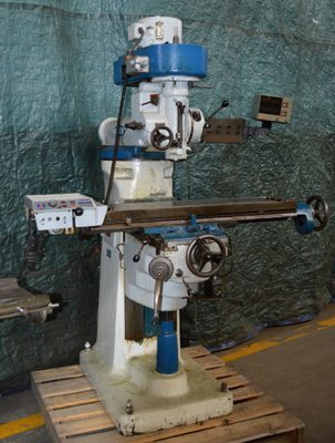 ​1 – USED #645 INDEX VERTICAL MILL WITH DIGITAL READOUTS