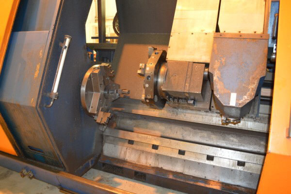 "1 – USED 29.5"" X 118"" VOEST-ALPINE STEINEL 6-AXIS HOLLOW-SPINDLE CNC LATHE WITH MILLING"