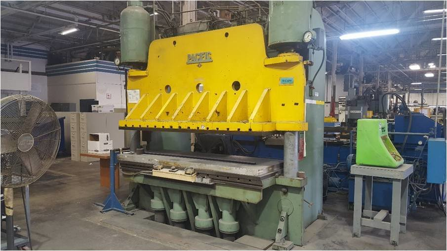 ​1 – USED 1,000 TON PACIFIC PRESS BRAKE TYPE PRESS