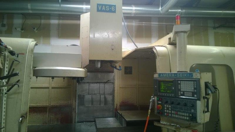 ​1 – USED AMERA SEIKI VAS-6 FULL CONTOURING 4-AXIS VERTICAL MACHINING CENTER C-5592