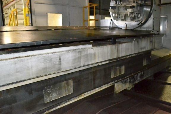 "1 – USED 6.1"" GIDDINGS & LEWIS PT1800 CNC TABLE TYPE HORIZONTAL BORING MILL"