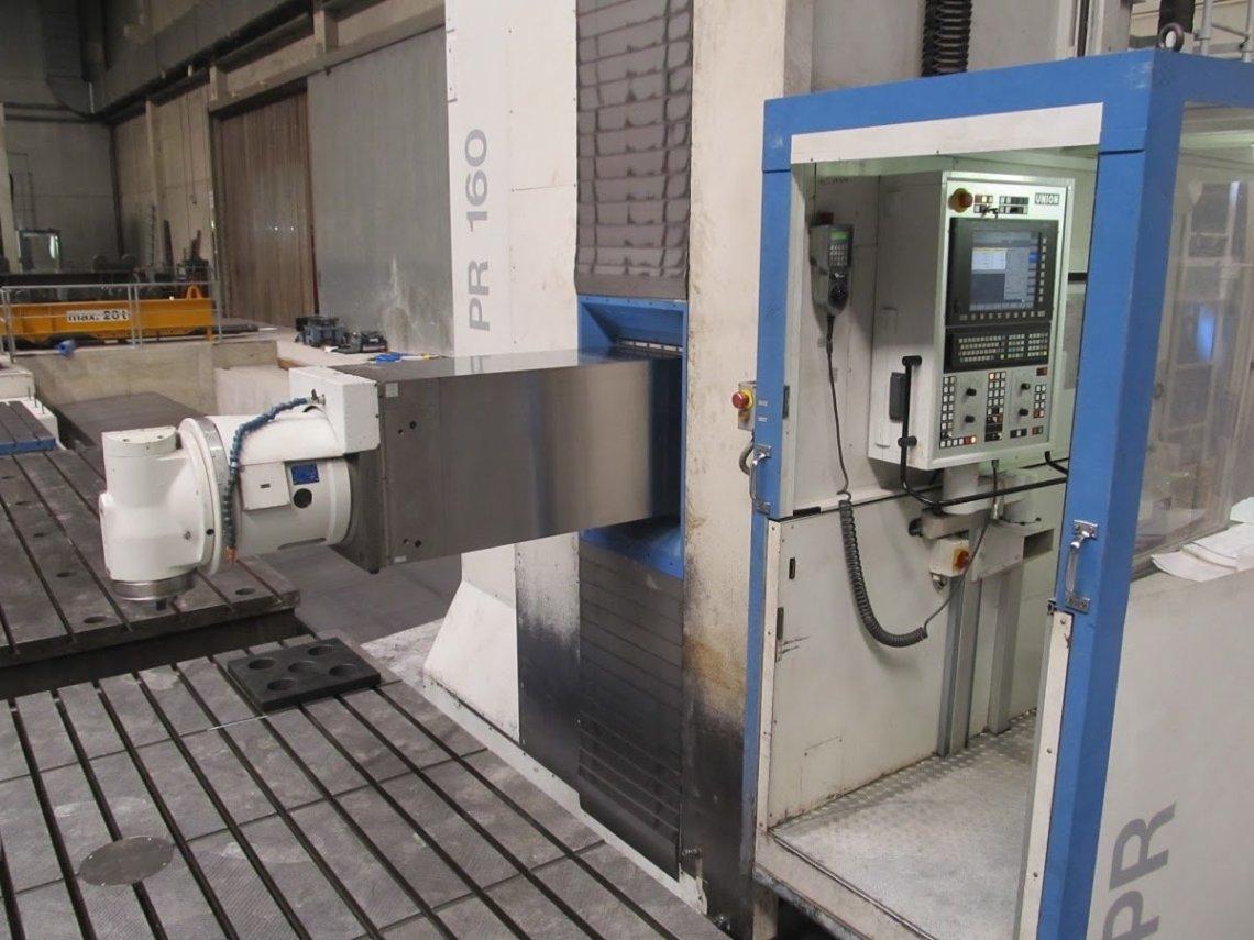 1 – USED UNION CNC HORIZONTAL FLOOR TYPE BORER, MODEL PR 160
