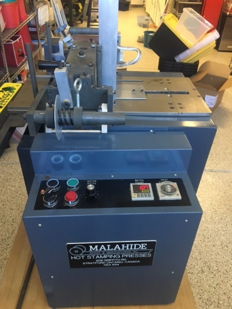 ​1 – USED MALAHIDE MODEL E2-NB HOT STAMPING MACHINE C-5629