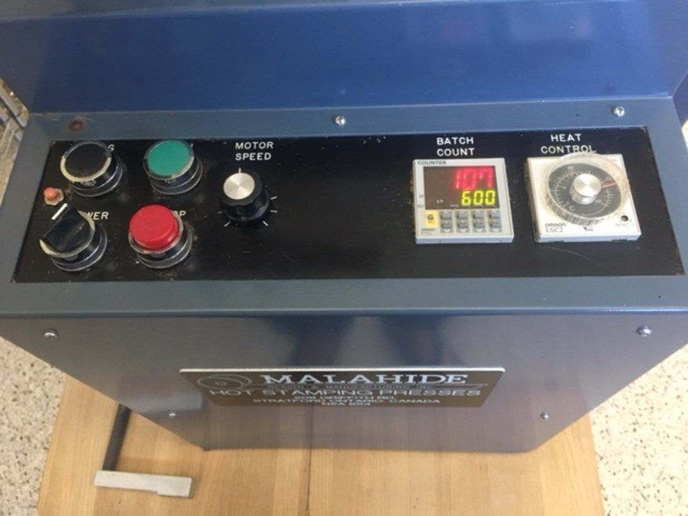 ​1 – USED MALAHIDE MODEL E2-NB HOT STAMPING MACHINE