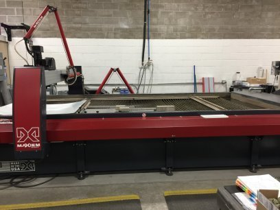 "​1 – USED 6' 7"" X 13' 10"" OMAX JET MACHINING CENTER"