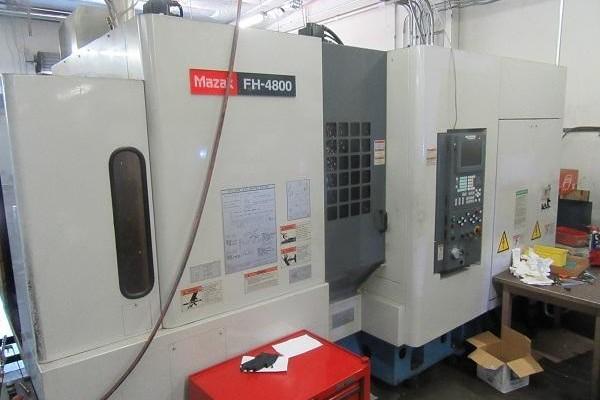 1 – USED MAZAK FH-4800 CNC HORIZONTAL MACHINING CENTER C-5695