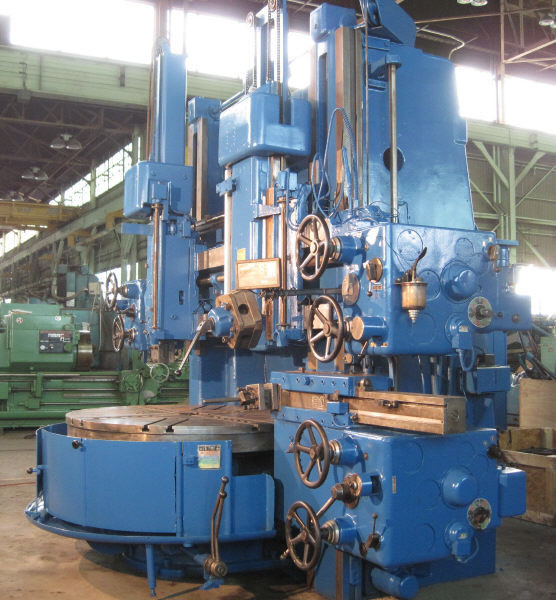 "1 – USED 63"" TOS DOUBLE HOUSING VERTICAL BORING MILL"