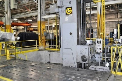 """1 – USED 6"""" GIDDINGS AND LEWIS FLOOR TYPE HORIZONTAL BORING MILL"""