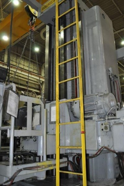 "​1 – USED 6"" GIDDINGS AND LEWIS FLOOR TYPE HORIZONTAL BORING MILL"