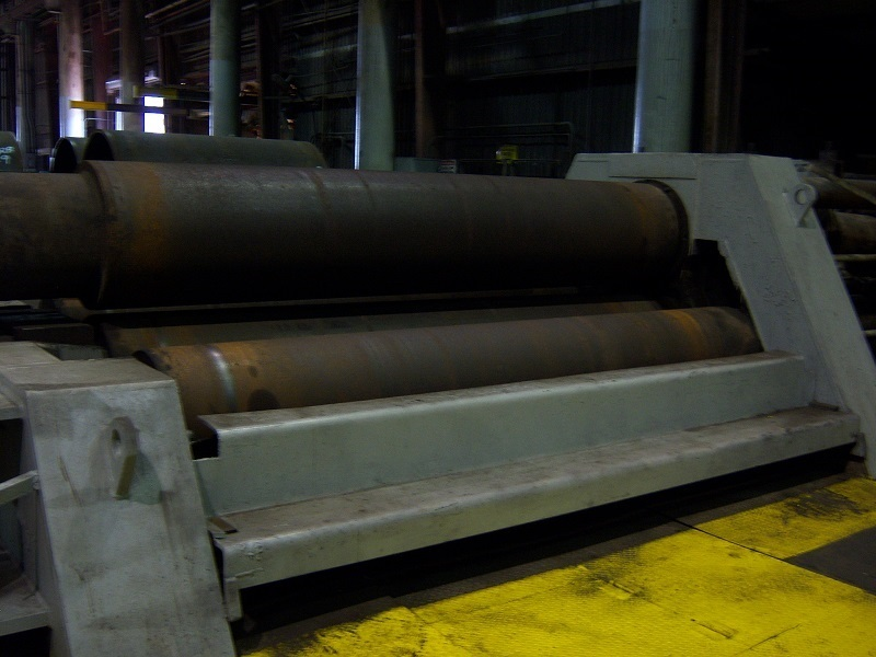 """1 – USED 12' X 2 ½"""" HAUSLER (GERMAN) 4-ROLL DOUBLE PINCH HYDRAULIC BENDING ROLL C-5705"""