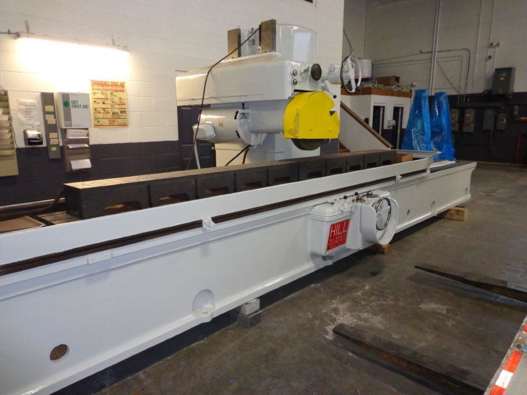 """1 - USED 18"""" x 18"""" x 168"""" HILL-ACME HYDRAULIC HORIZONTAL SPINDLE SURFACE GRINDER WITH ADF"""