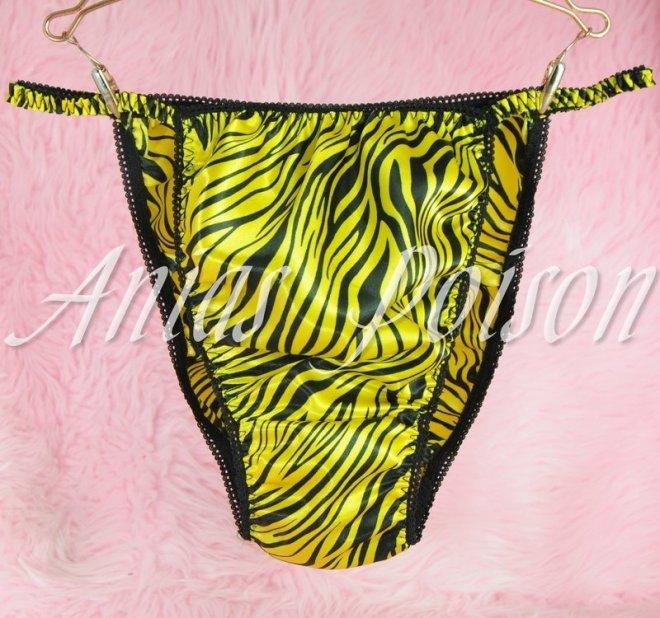 Ania's Poison MANties S - XXL Polka Dot shiny Rare 100% polyester string bikini sissy mens underwear panties