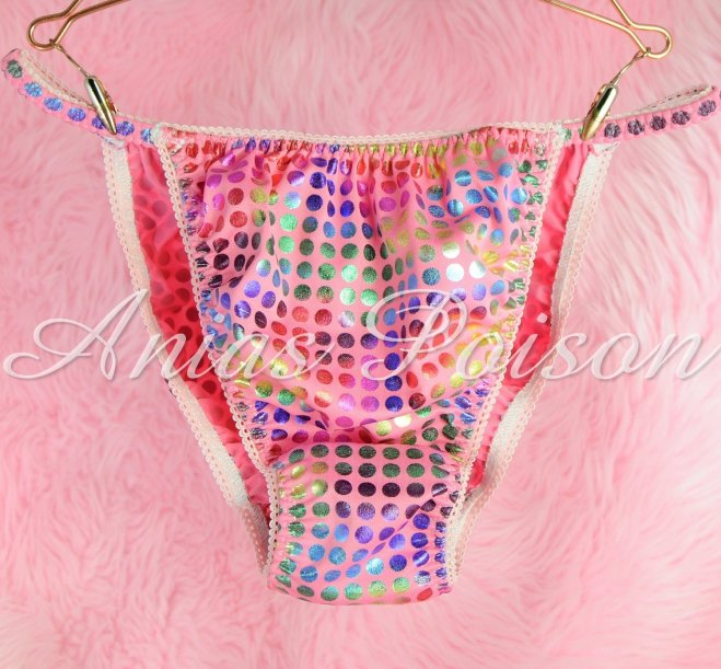 Ania's Poison Spandex Super stretch Sparkle Dancer String bikini sissy mens panties