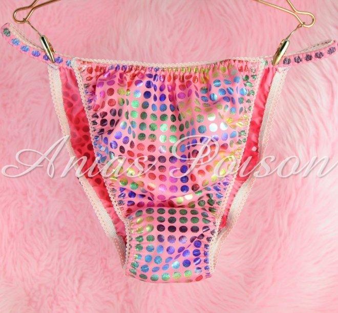 Ania's Poison Spandex Super stretch Sparkle Dancer String bikini sissy mens panties