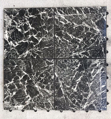 Dance Floor- Black & White Marble