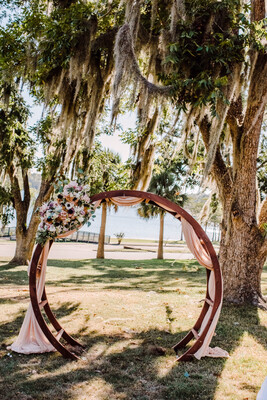 Wooden Circle Arbor