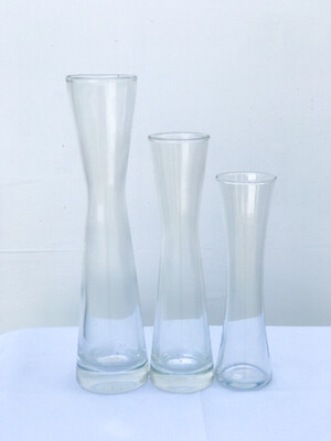 Hourglass Shaped Glass Vase
