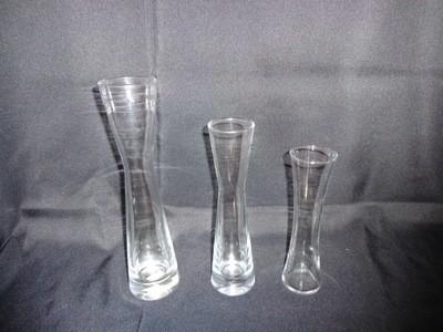 Hourglass Shaped Glass Vase 12