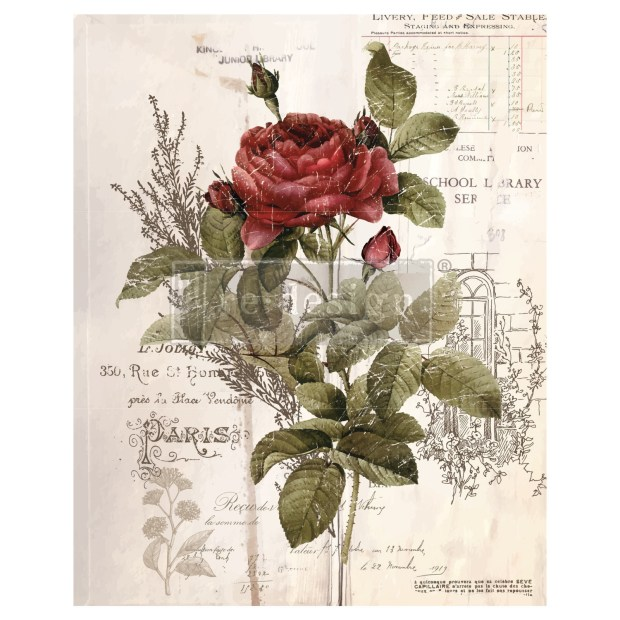Prima Decor Transfer: Botanical Rose