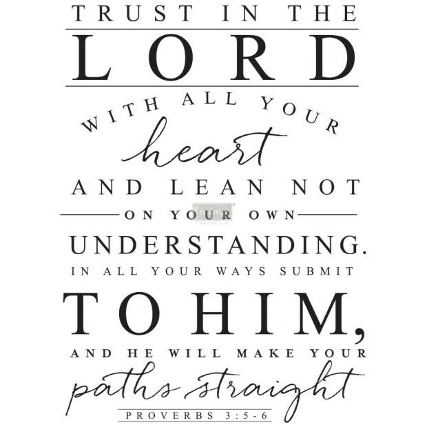 Prima Decor Transfer: Trust In The Lord