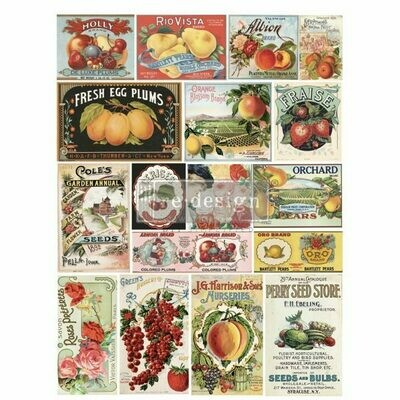 NEW! Prima Decor Transfer: Vintage Seed