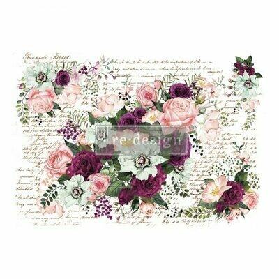 NEW! Prima Decor Transfer: Violet Hill