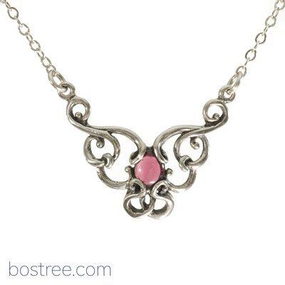 Victorian Necklace - Sterling Silver & Garnet