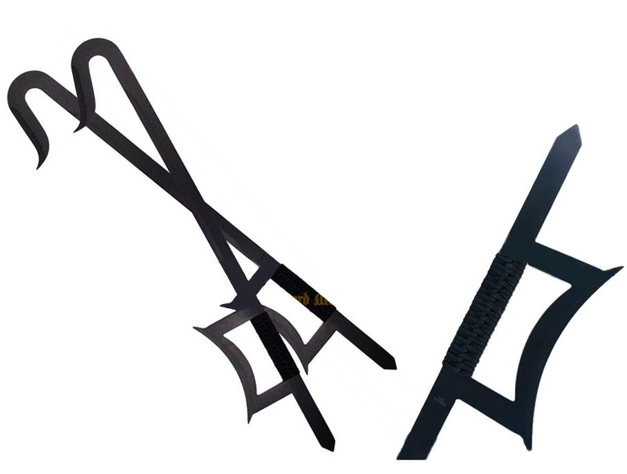 Ganchos de Tigre en Acero Inoxidable  NEGRO 440 Steel