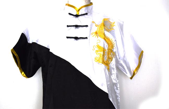 Uniforme de Wushu Chang Chuan Negro/Blanco 00191