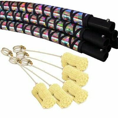 Fire Hoop, Fire Opal Fishnet