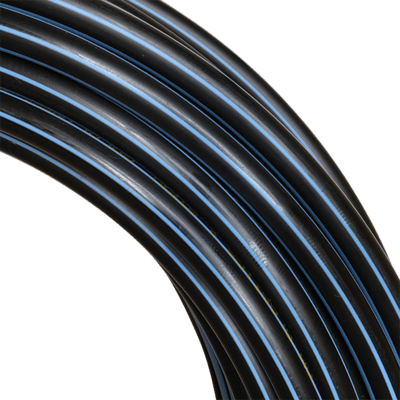 16mm HDPE 'Blue Line' Hula Hoop Tube, 50m