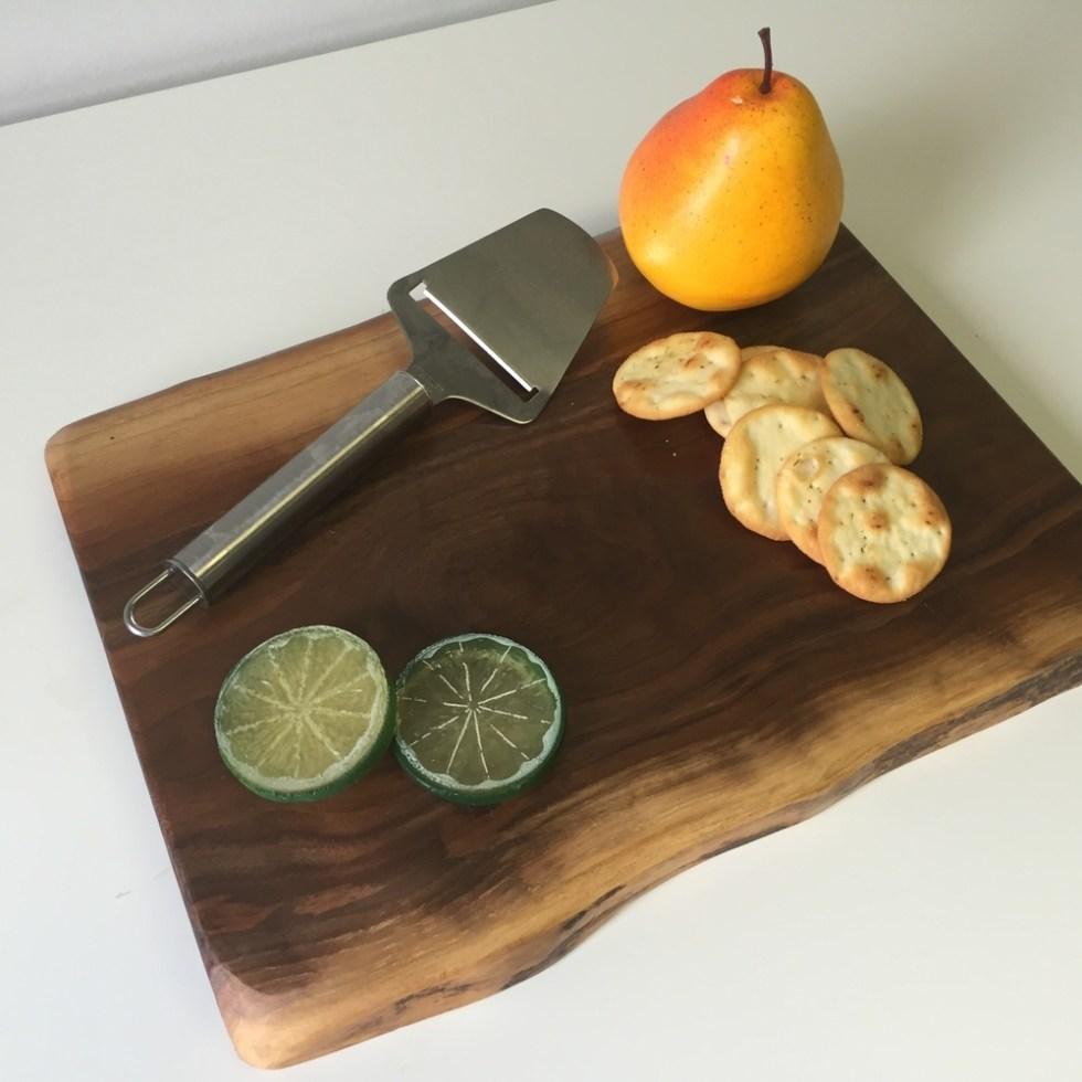 Walnut Cutting Board, RUSTIC Live Edge Cutting Board, Live Edge Cheese Board, Rustic Cutting Boards