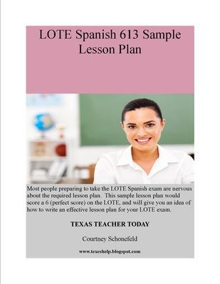 LOTE Spanish 613 Sample Lesson Plan