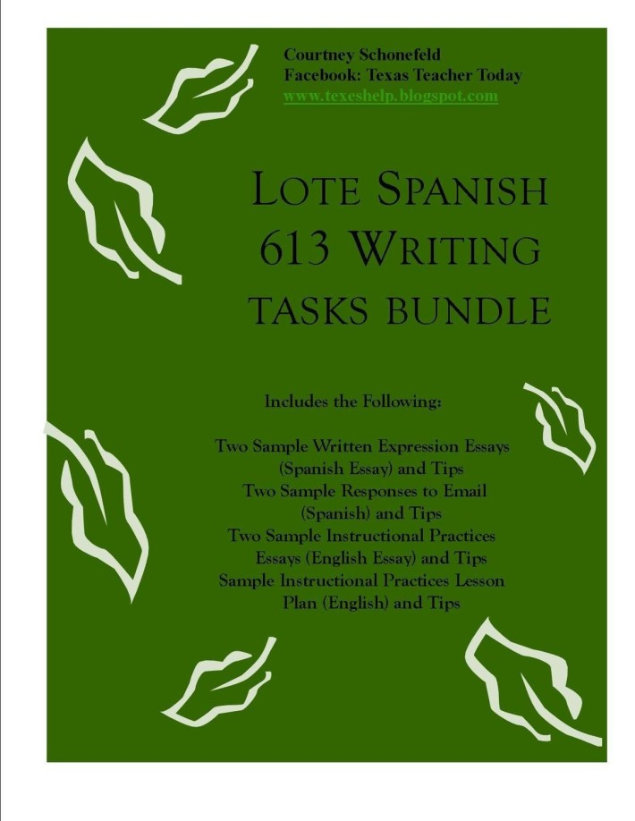 LOTE Spanish 613 Writing Tasks Bundle