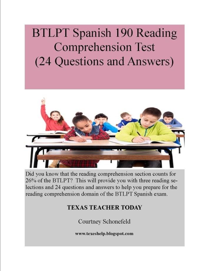 BTLPT Reading Comprehension Test