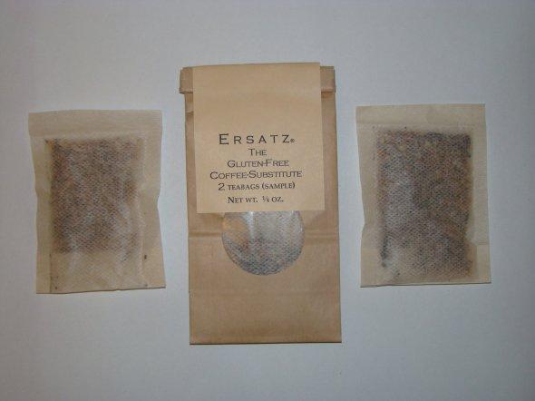 Ersatz®-Sample pkg. of 2 teabags, showing 2 teabags