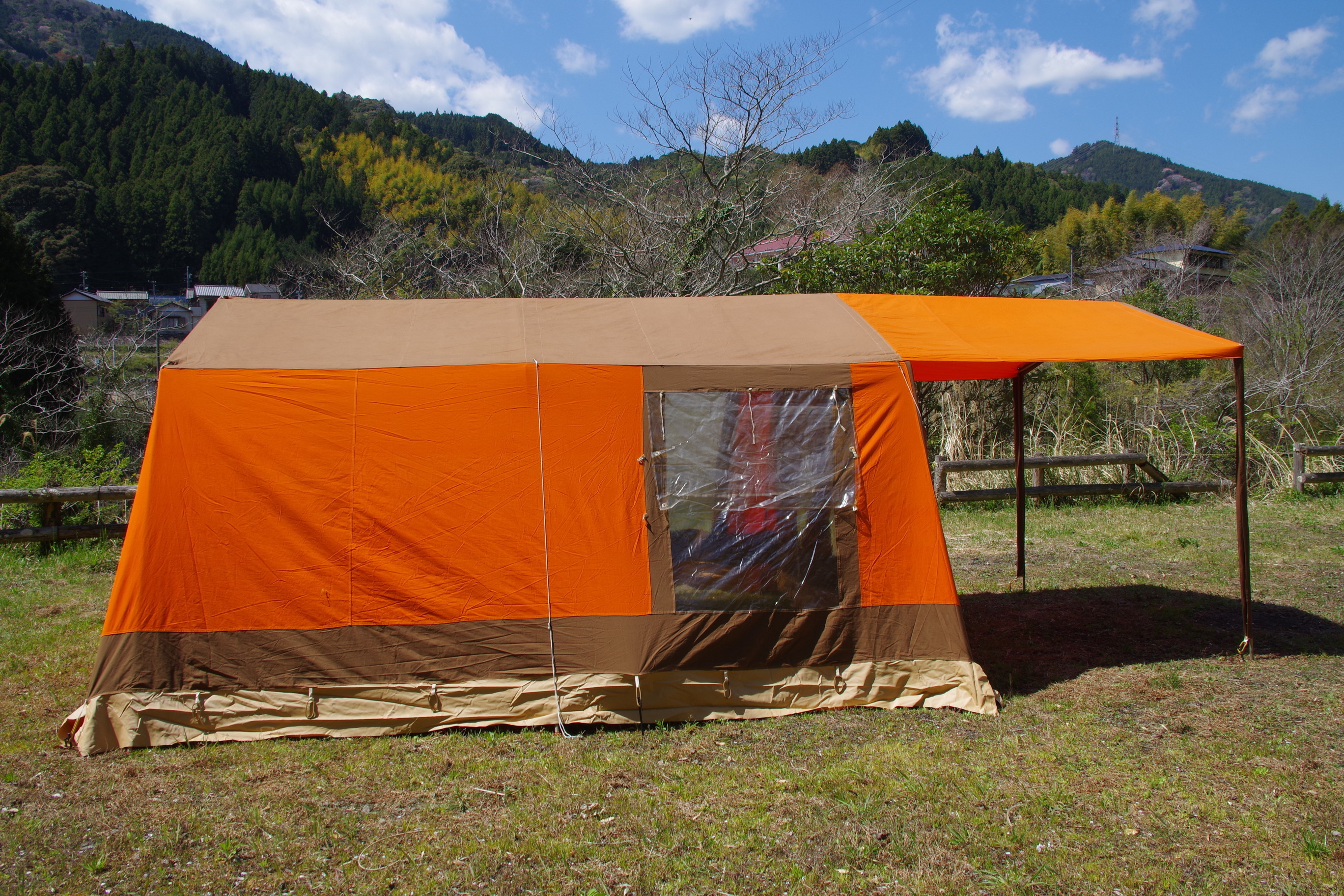 ドイツ製 POUCH×Camping star  新品同様 大型ロッジテント