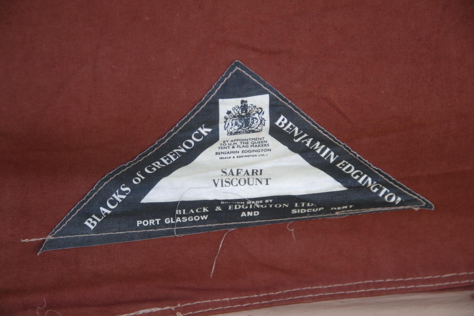 イギリス製ブラックス&グリーンノックスアルミフレームのお手ごろロッジ5人用