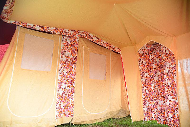 メッサージュ 70年代 ヴィンテージロッジ 5人用 人気 ヴィンテージ幕 フレームテント ピンク オレンジ