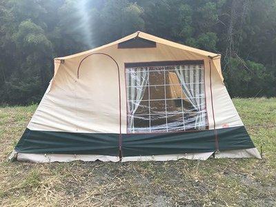 キャバノン  エロディ 大型ロッジテント 6人用 家族用 ヴィンテージ幕 フレームテント Cabanon Elody