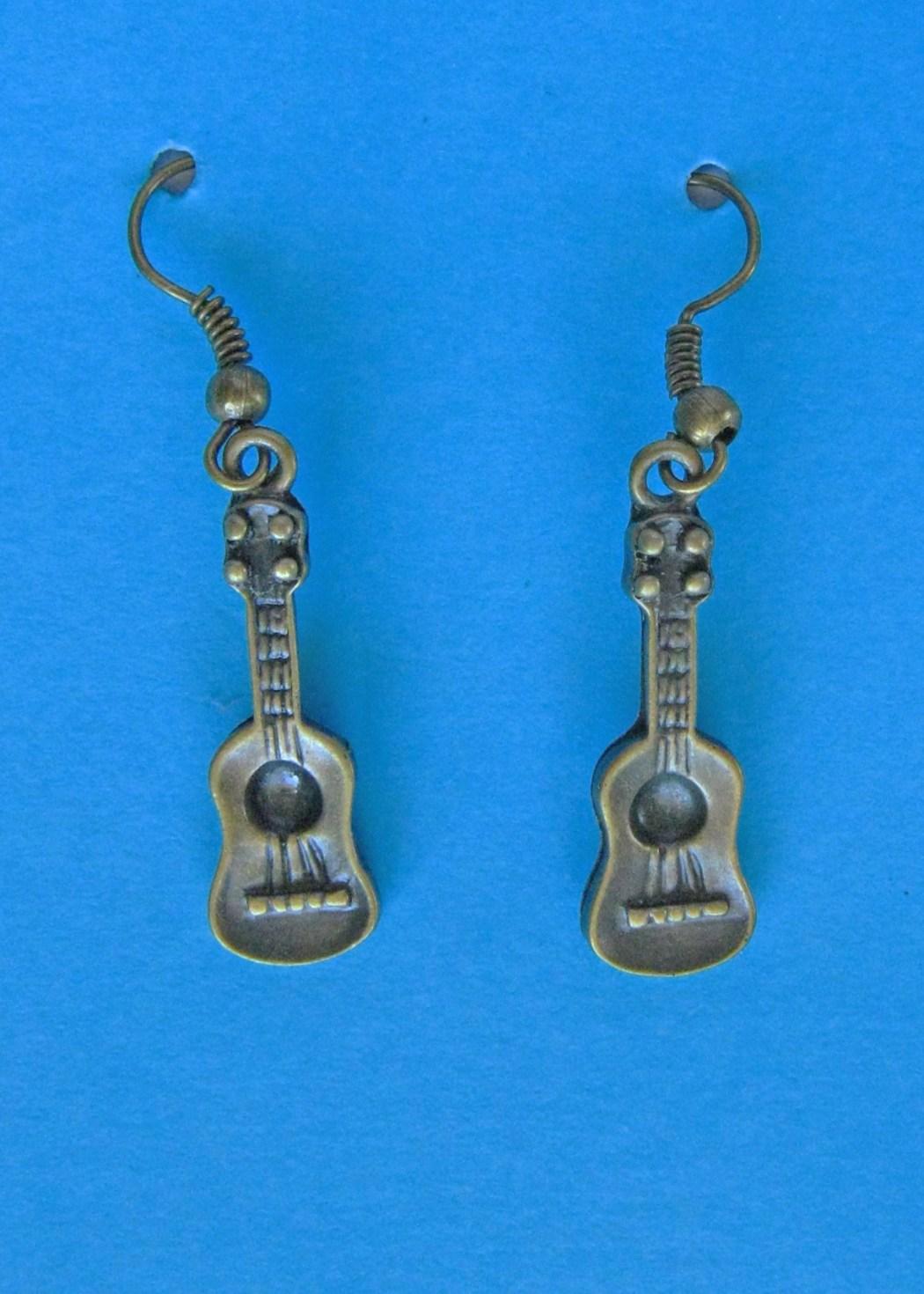 Bronze Ukulele Earrings BE