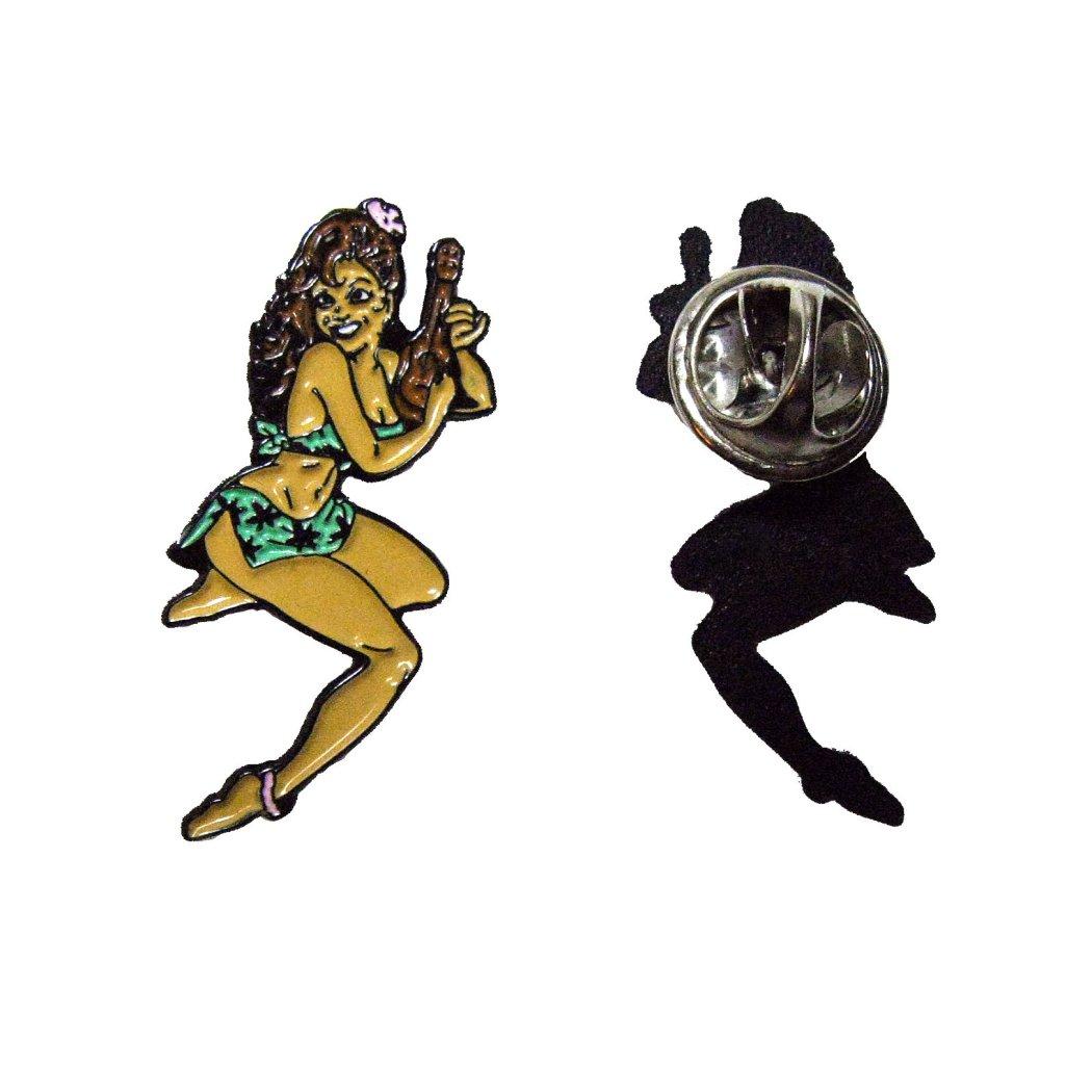 Ukulele Pin-Up Girl Badge KB1