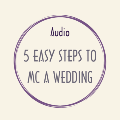 audio 5 EASY STEPS TO MC A WEDDING
