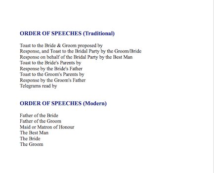 The Order of Speeches