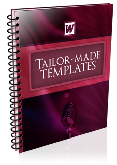 eBook WORD doc mc wedding TAILOR MADE TEMPLATES Easy planning. Save time. Word-for-word outlines of what to say & when to say it eBook worddoc mc wedding tailormade templates