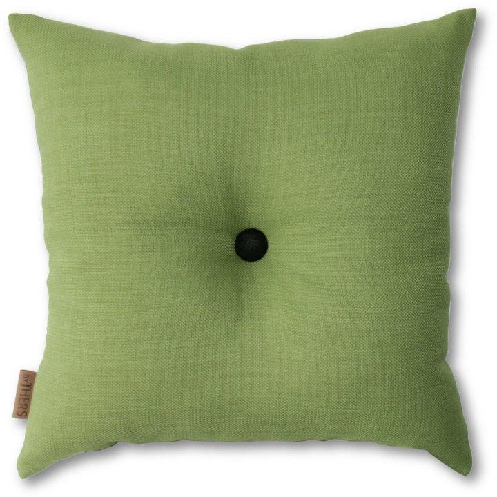 Grøn pude med knap 1105